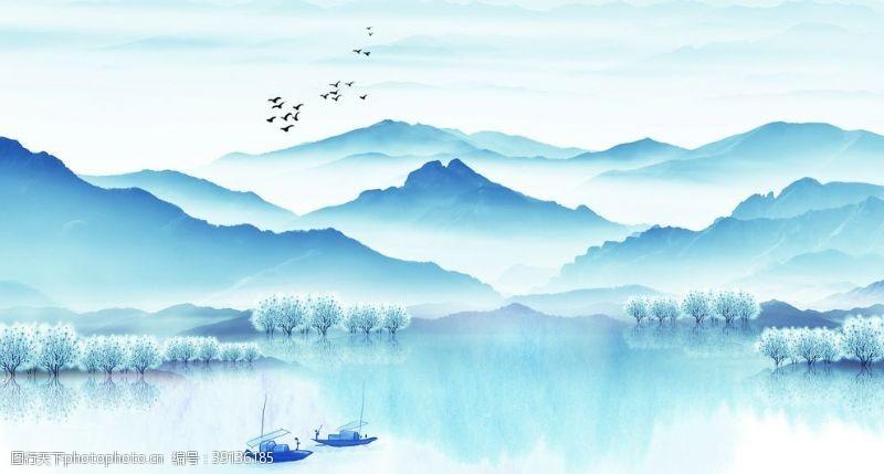 高清 山水画图片