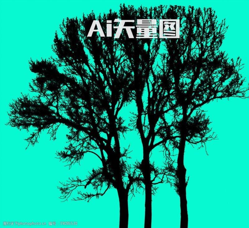 树木剪影 树图片
