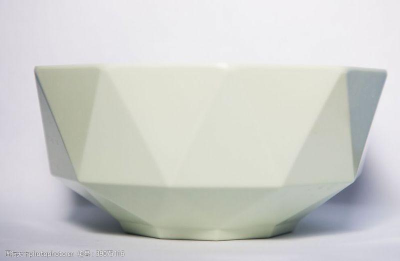 创意多边形设计陶瓷碗图片