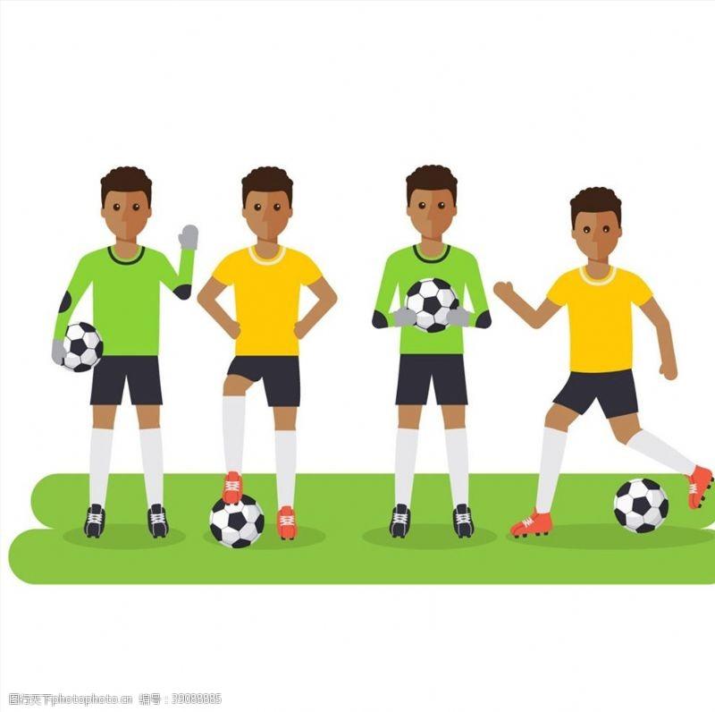 创意踢足球男子图片