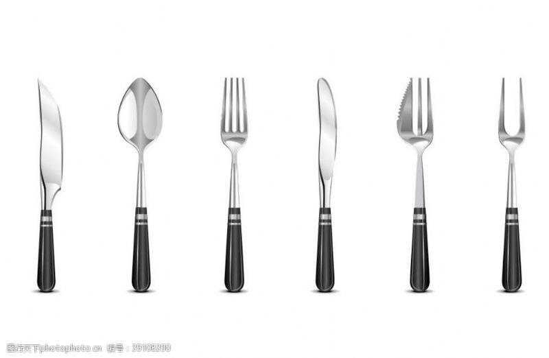 咖啡杯 刀子叉子餐具西餐餐具图片