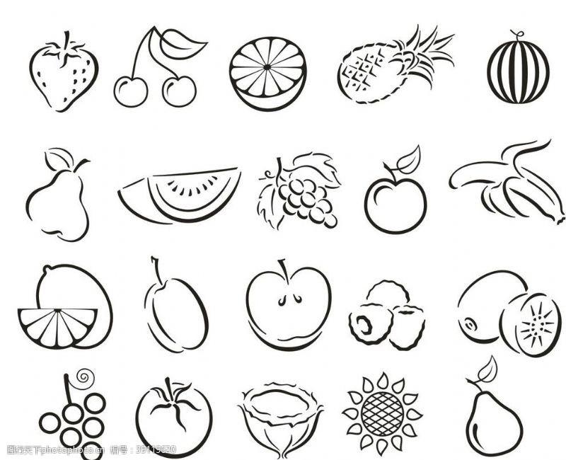 柠檬 各类水果手绘简笔画图片
