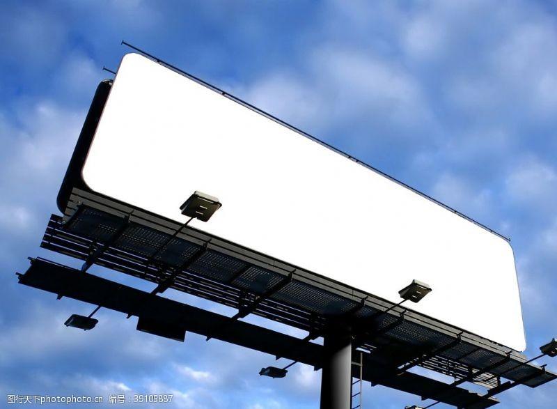 户外广告牌样机图片