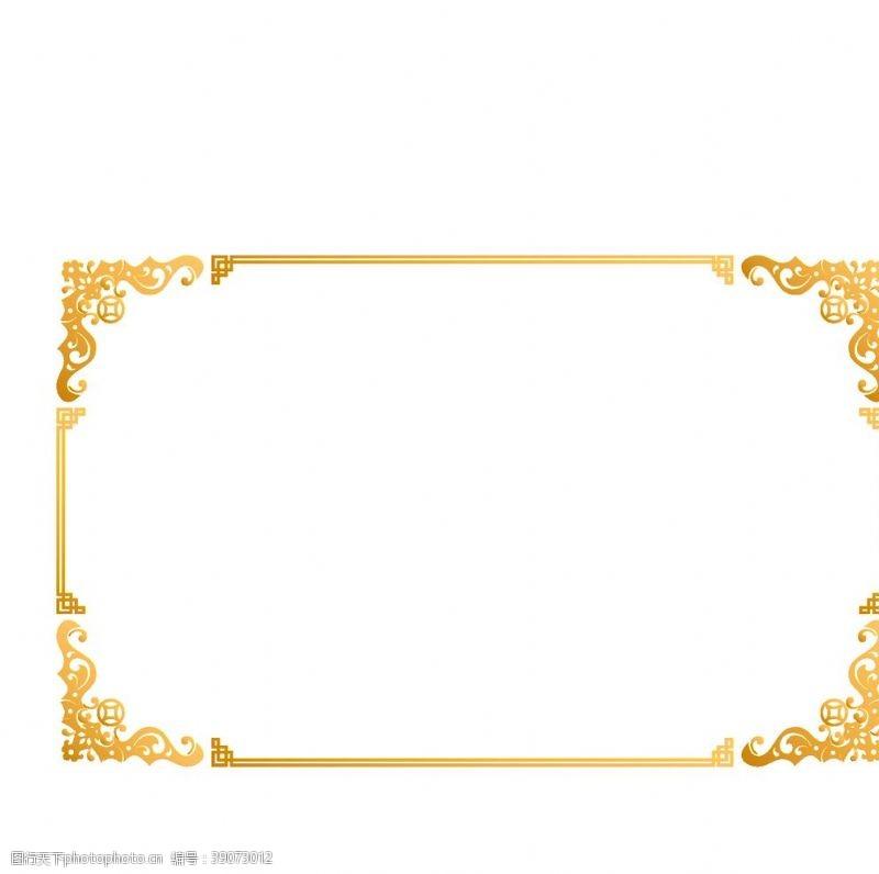 欧洲 金色边框元素边框图片