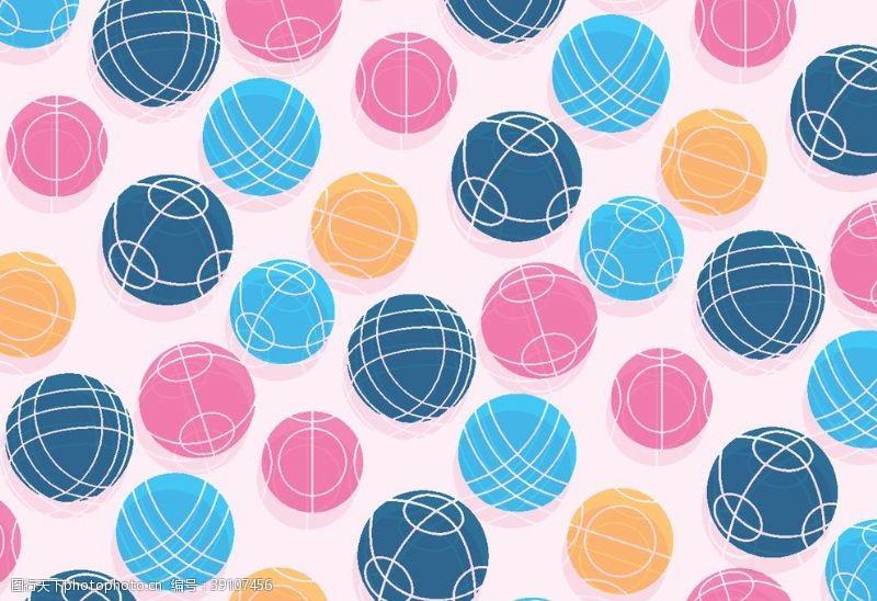 卡通足球毛线球矢量图图片