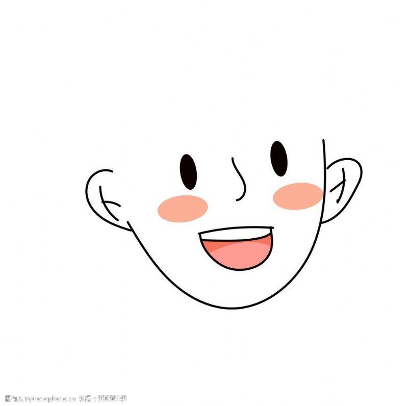 png透明底 可换发型人脸模板插画素材图片