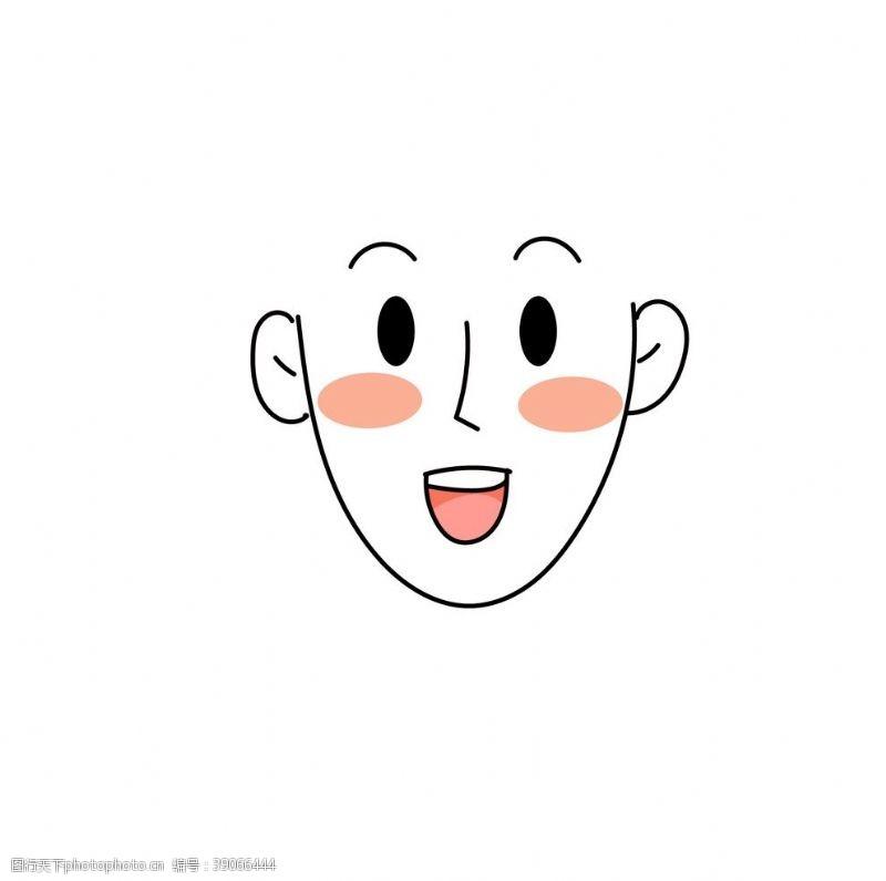 png透明底 可加发型脸型模板插画素材图片