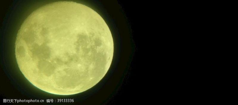 天文望远镜 绿月亮图片