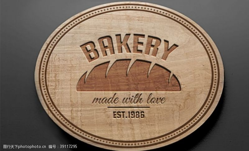logo贴图样机 木质纹理压印LOGO贴图样机图片