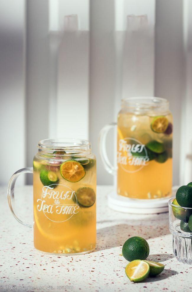 柠檬金桔水图片
