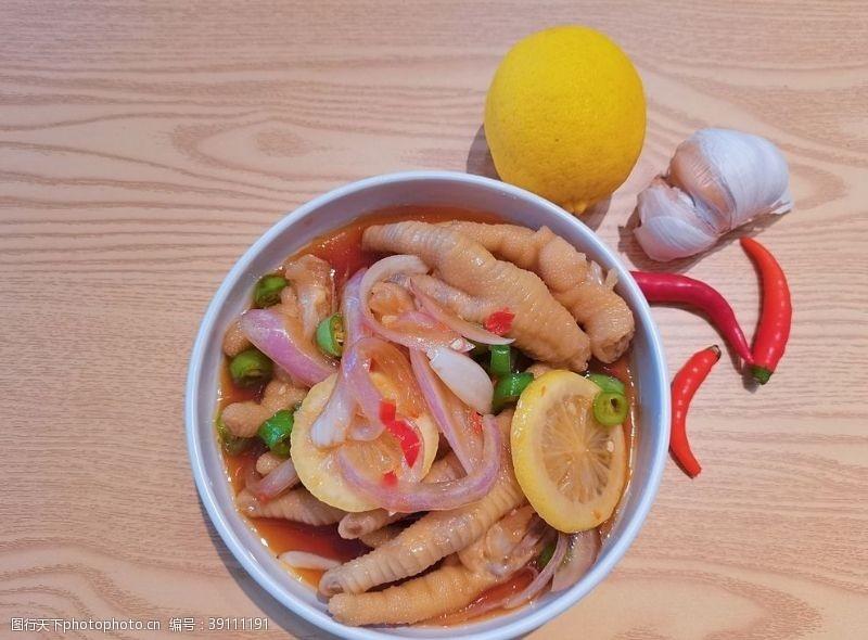 柠檬藤椒鸡脚图片
