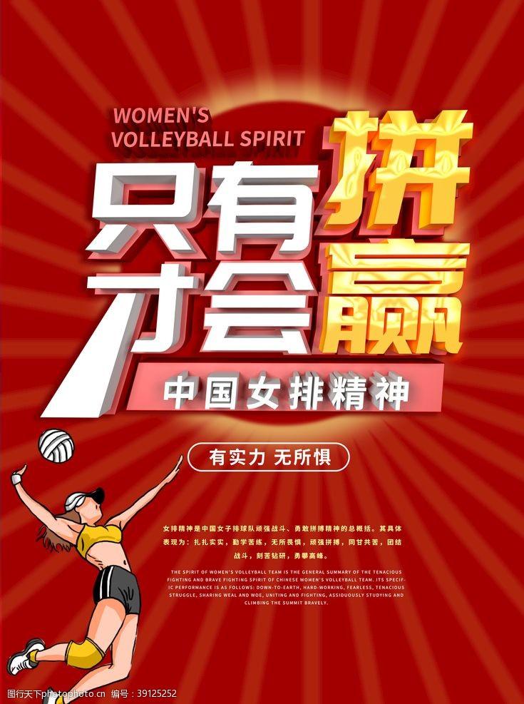 排球运动 女排精神图片