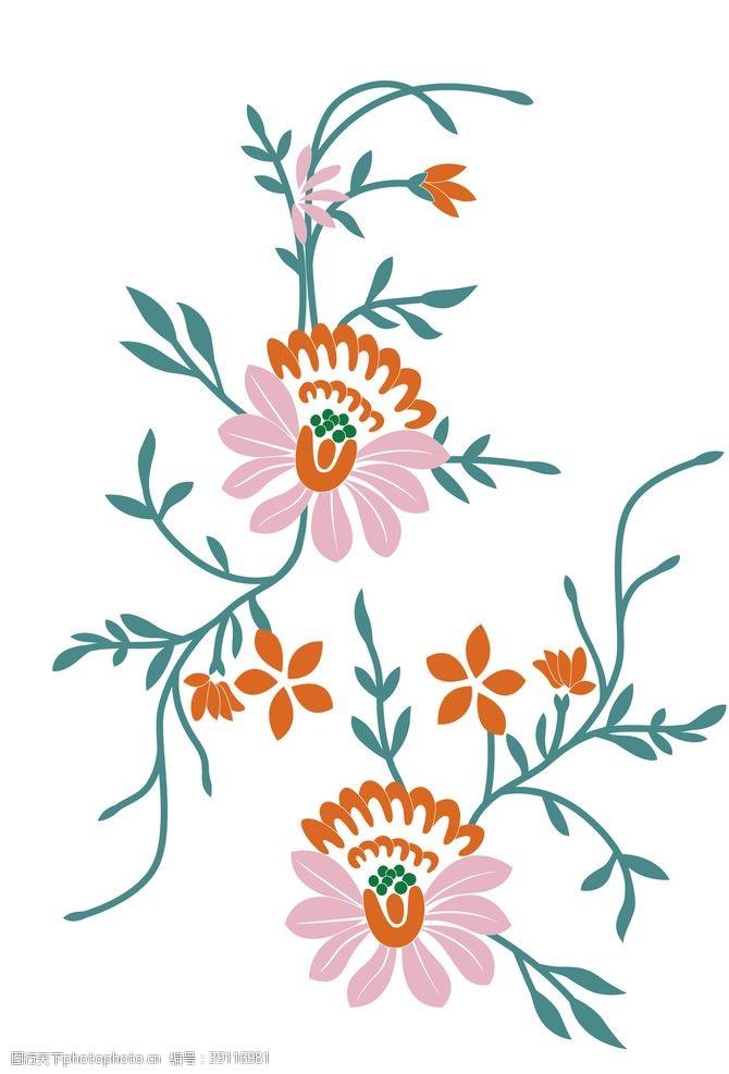 服装绣花 psd分层装饰花卉花纹图案图片