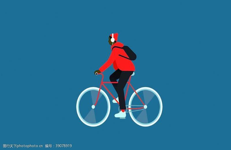 男人 骑自行车图片