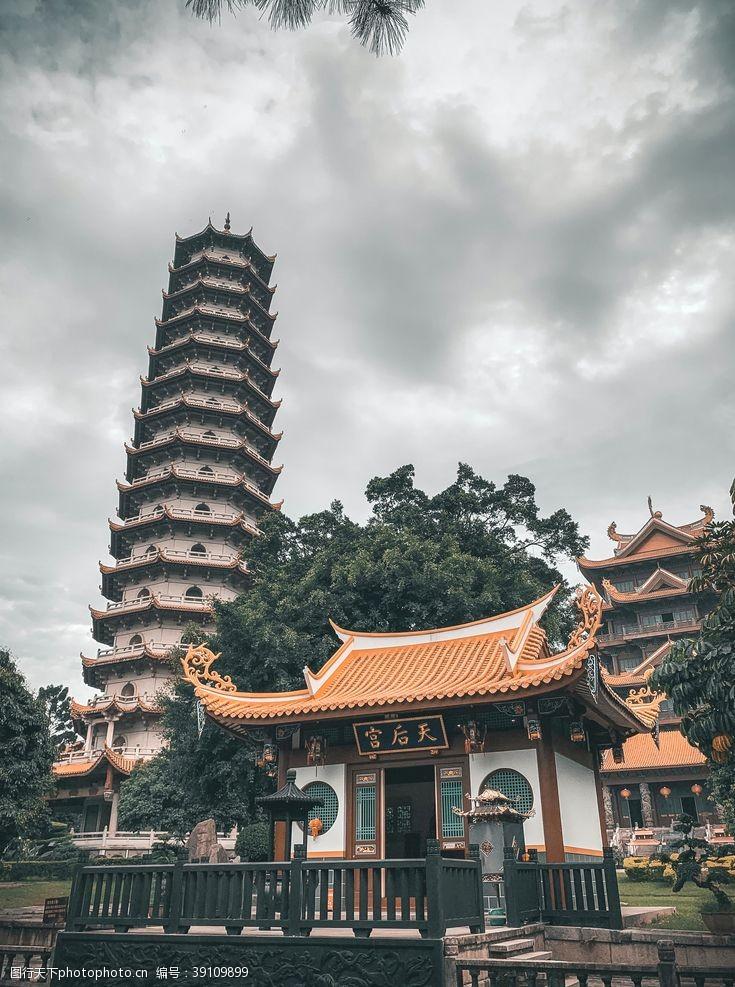 天后宫风景自然旅游旅行背景素材图片