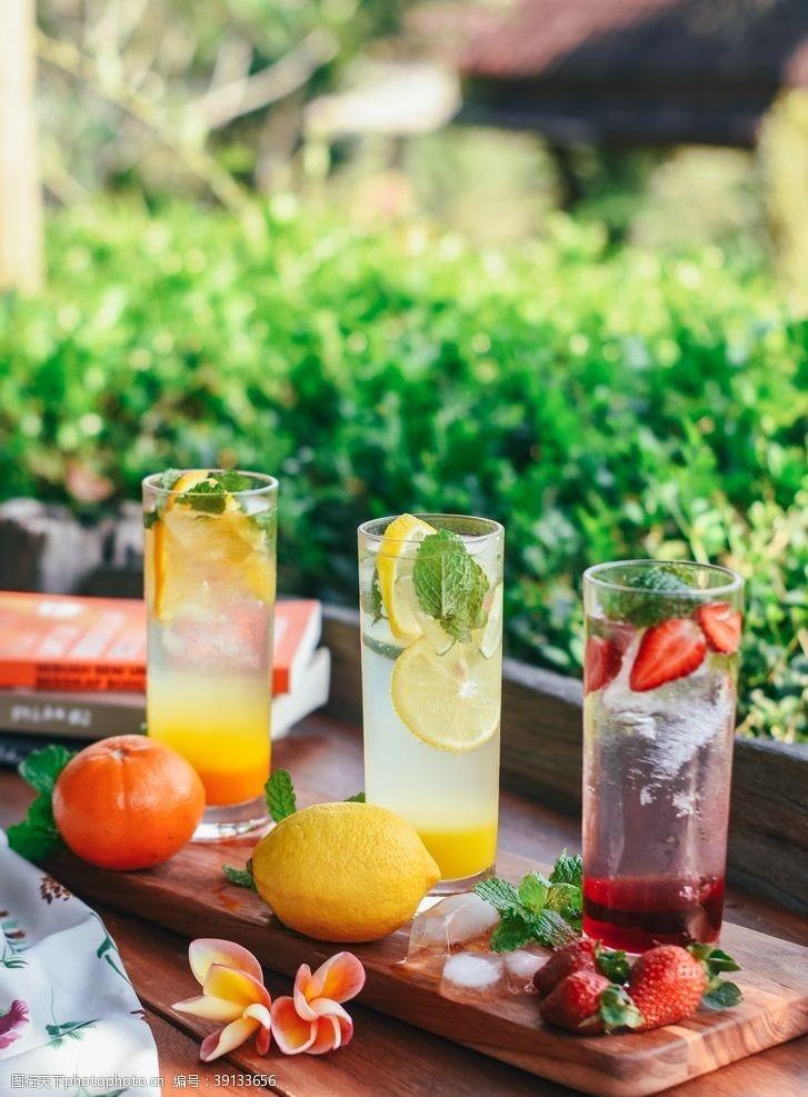 柠檬 新鲜水果茶图片
