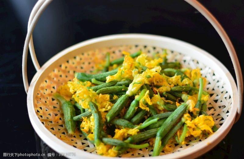 时令蔬菜 野菜黄瓜苗图片