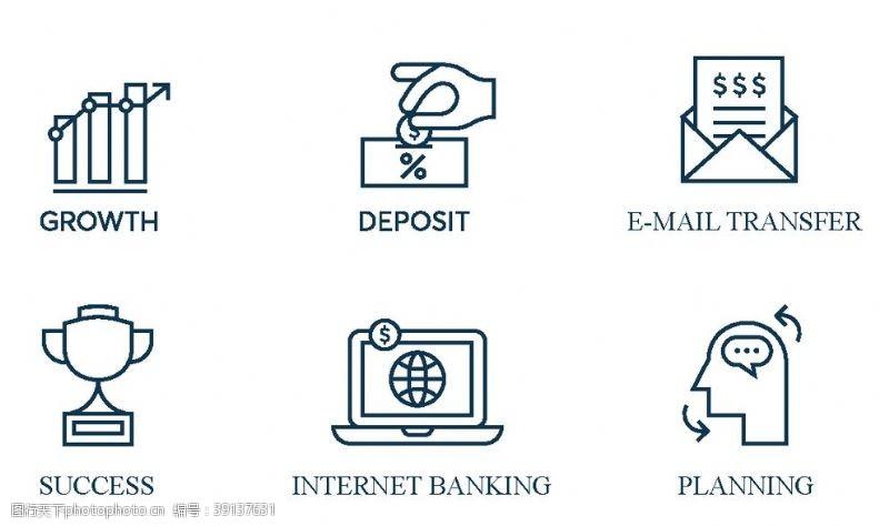 网上银行 财富图标金图片
