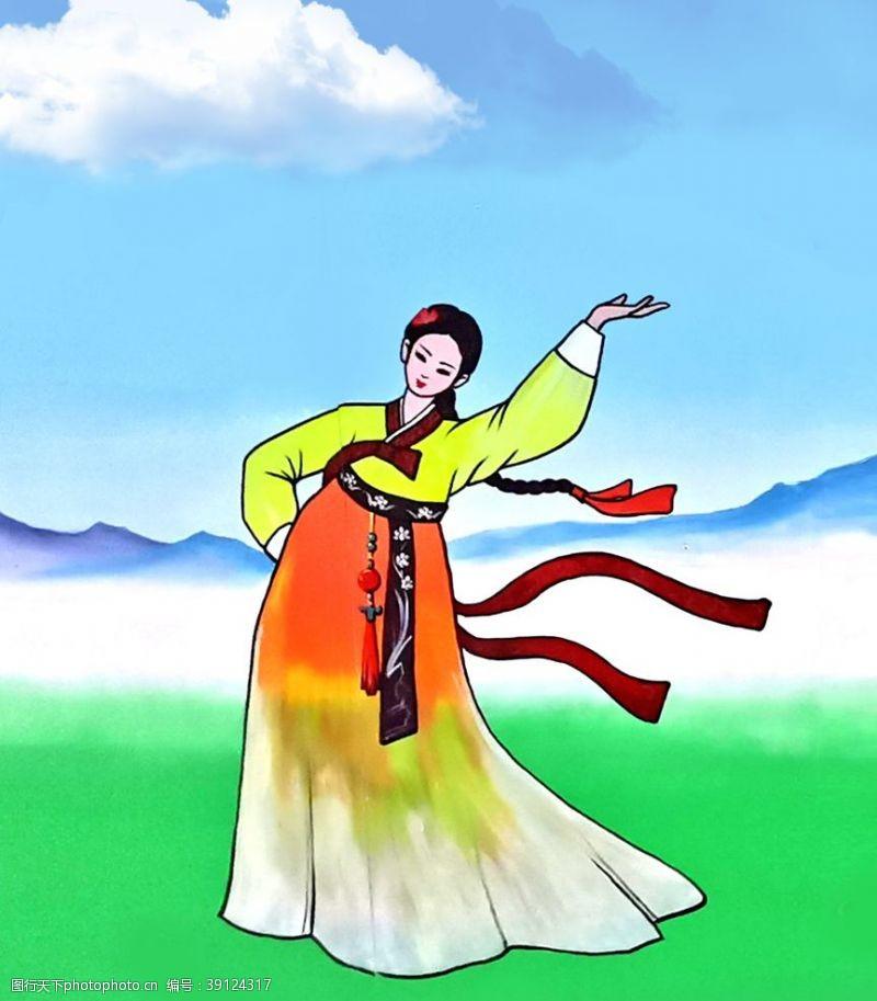 民族元素 朝鲜族图片