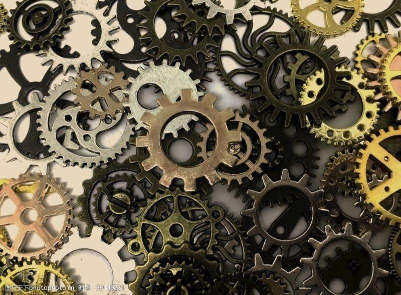 现代科技 齿轮背景图片