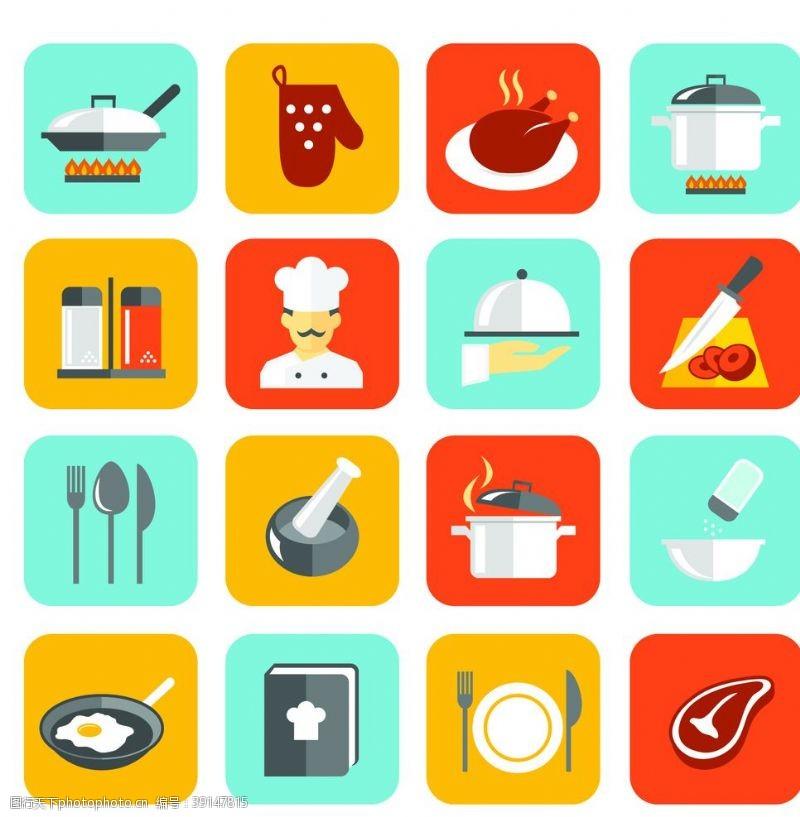 西餐餐具 厨房标识图片