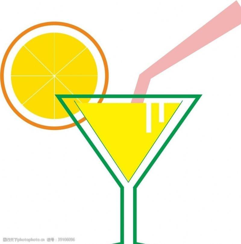 柠檬 高脚杯图片