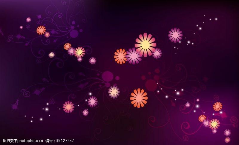 紫色花纹 光效底纹图片