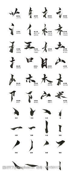 包装设计 国风古墨书法笔触造字文化设计图片