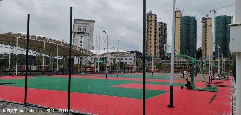 足球 篮球场图片