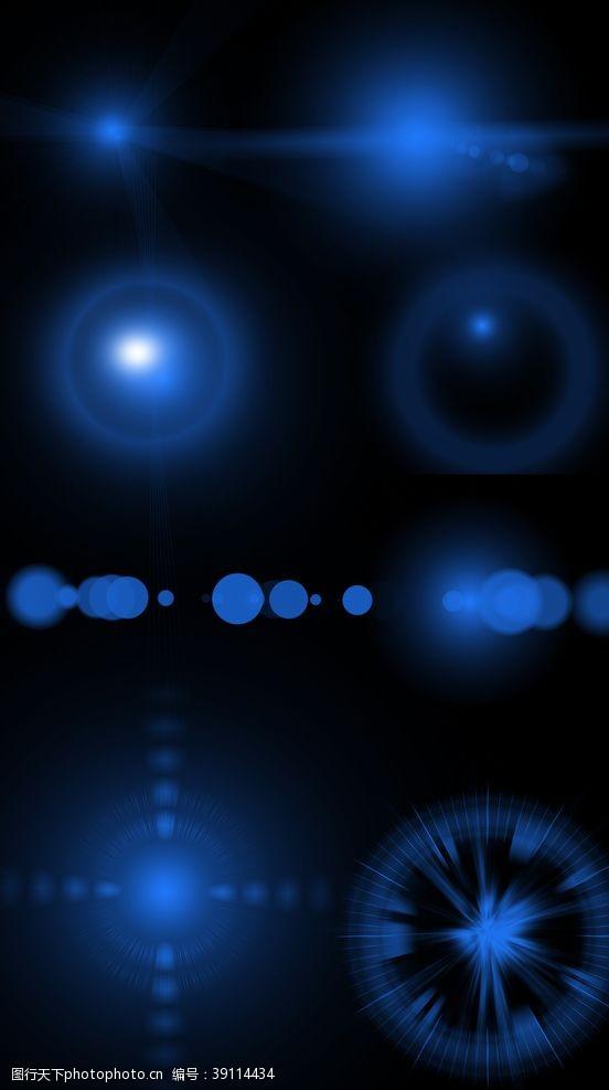 平面 蓝色光效图片