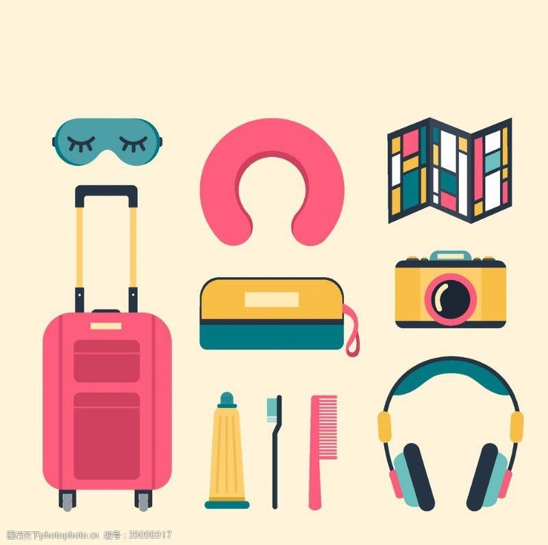 旅行箱 旅行元素图片