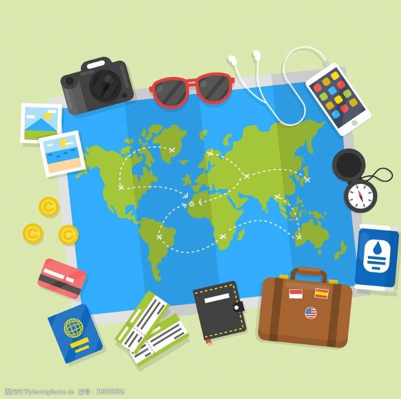 旅行元素图片