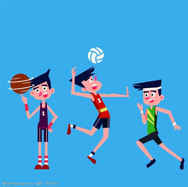 漫画体育 体育运动漫画海报图片