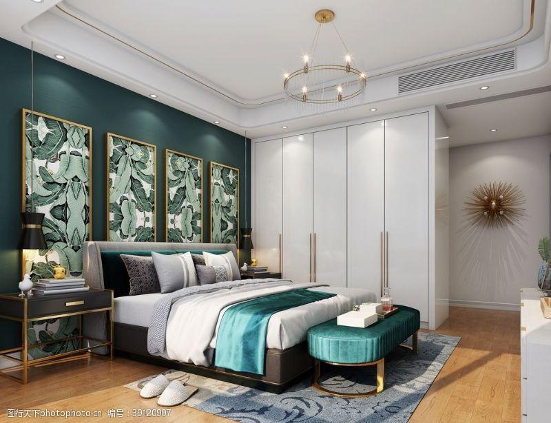 北欧 卧室图片