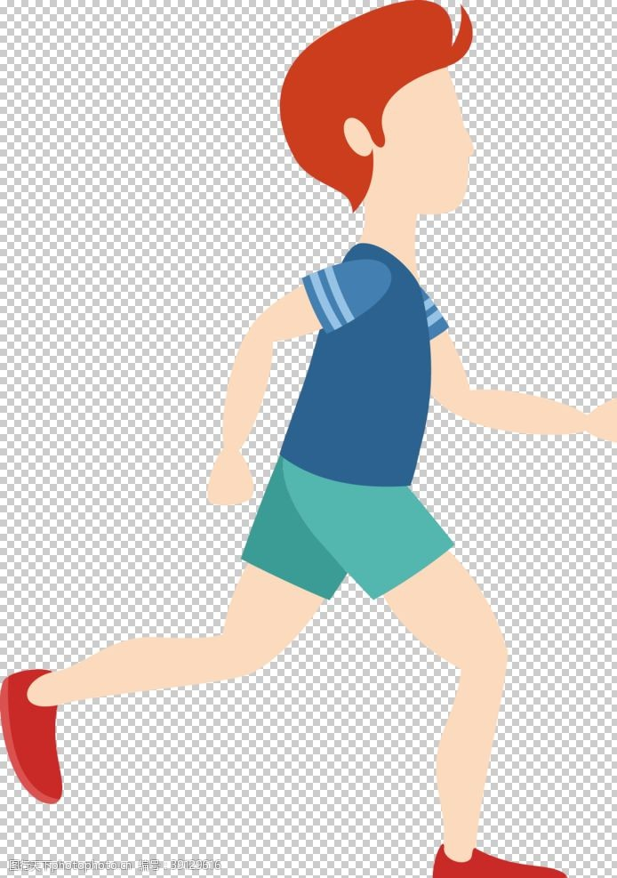 奔跑的男孩 奔跑的人图片