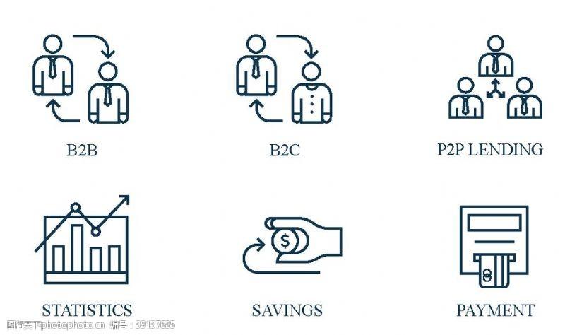 网上银行 财富图标图片