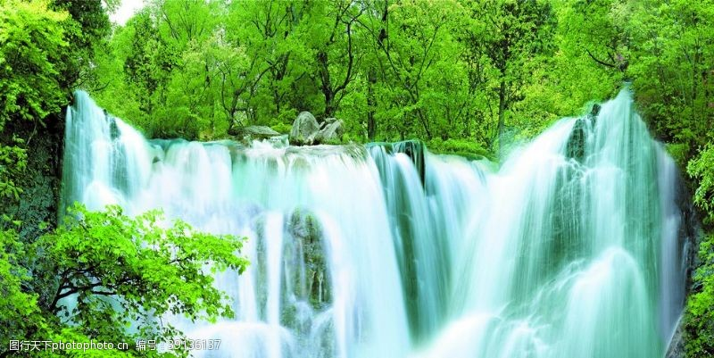 高清 大自然瀑布图片