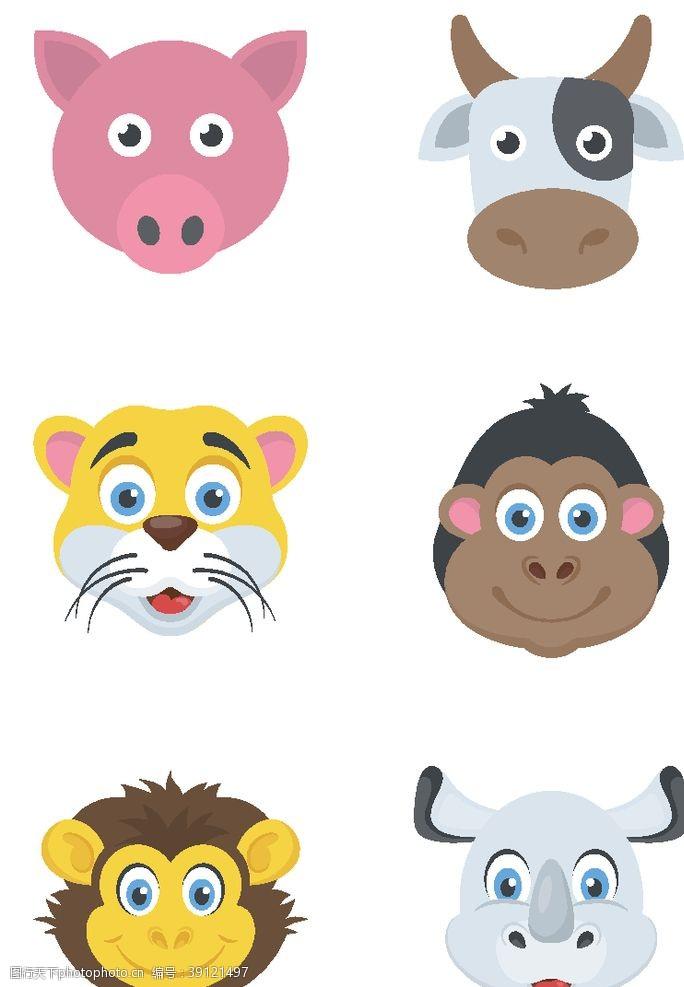 动物logo 动物头像图标图片