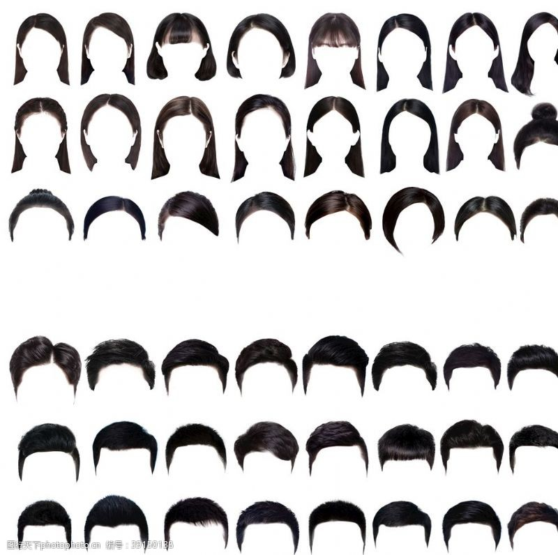 男性男人 发型设计理发店发型图片