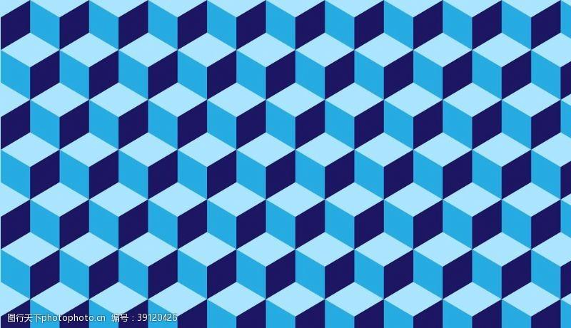 立体空间背景蓝色背景屏保图片
