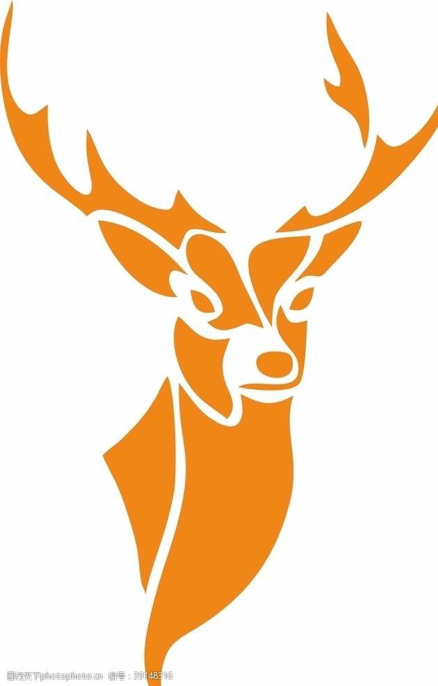 动物logo 鹿图片