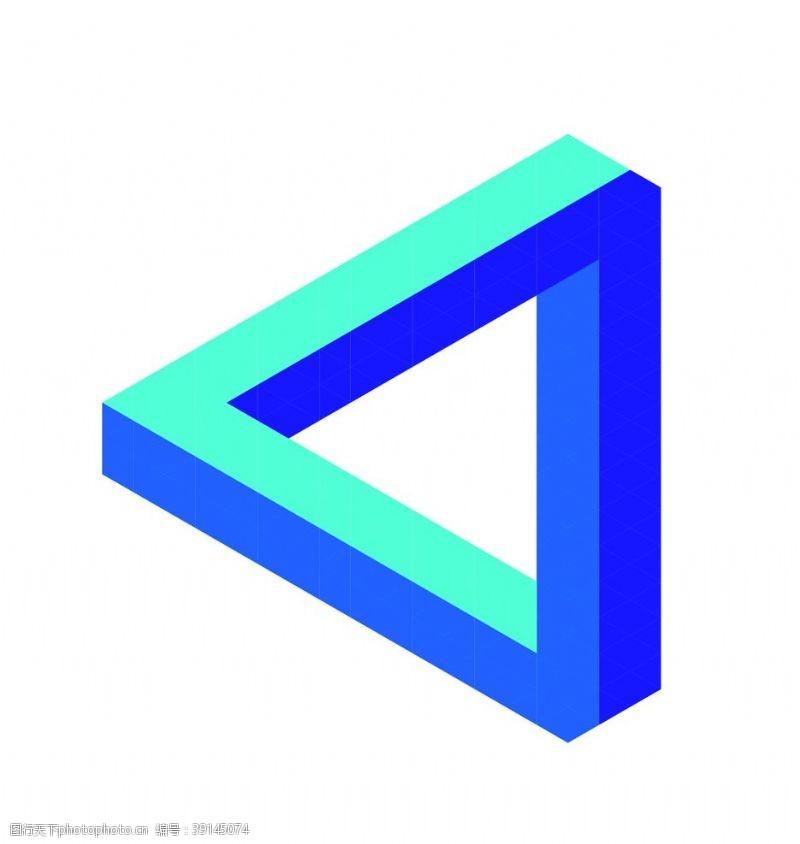 几何线条 潘洛斯三角形图片