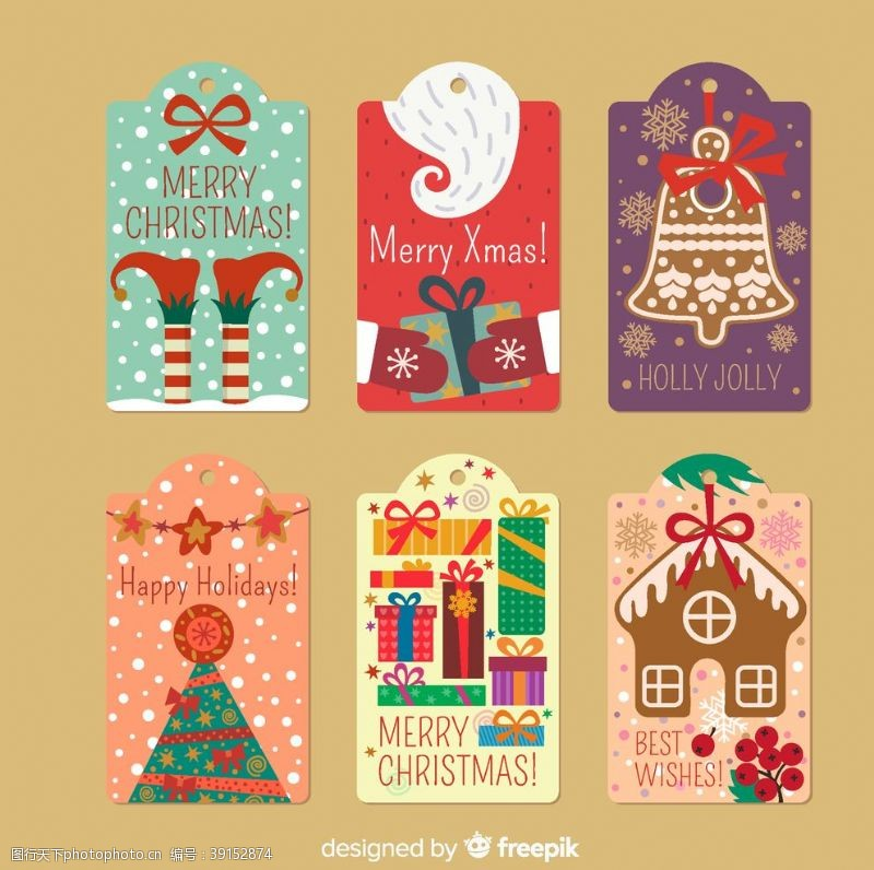 包装设计 圣诞卡片吊牌图片
