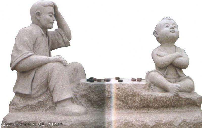 石雕人物图片