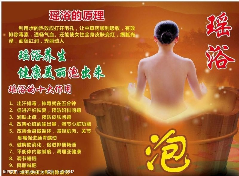 spa海报 瑶浴中医图片