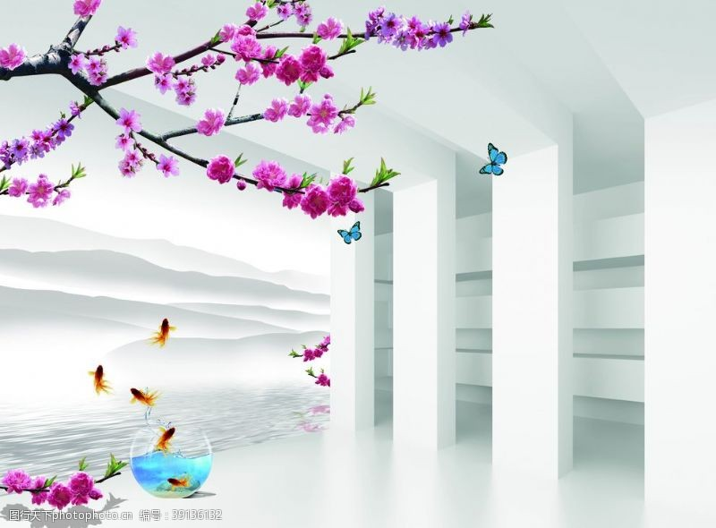 3D立体空间壁画图片