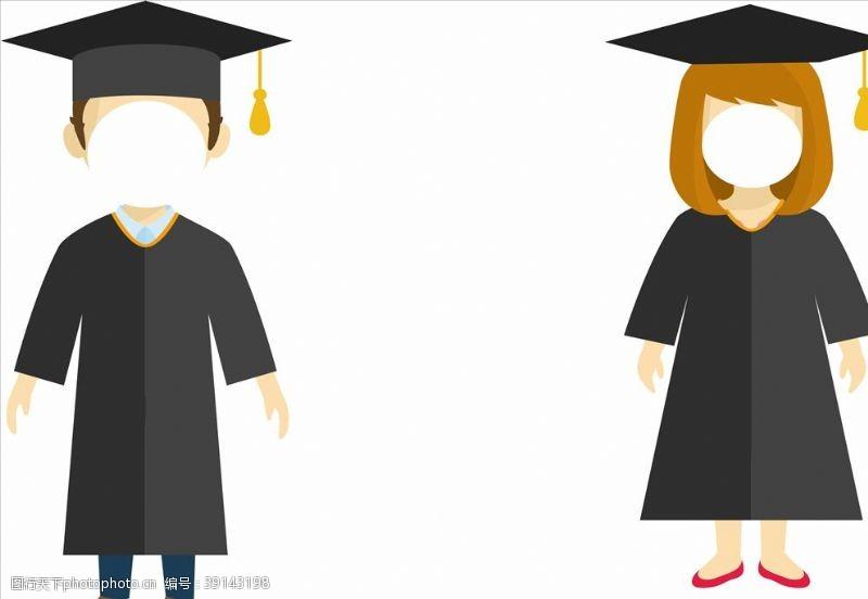 毕业季漫画人物图片