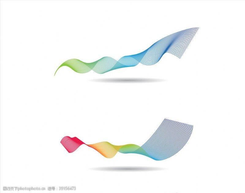 动感梦幻 彩色渐变曲线图片