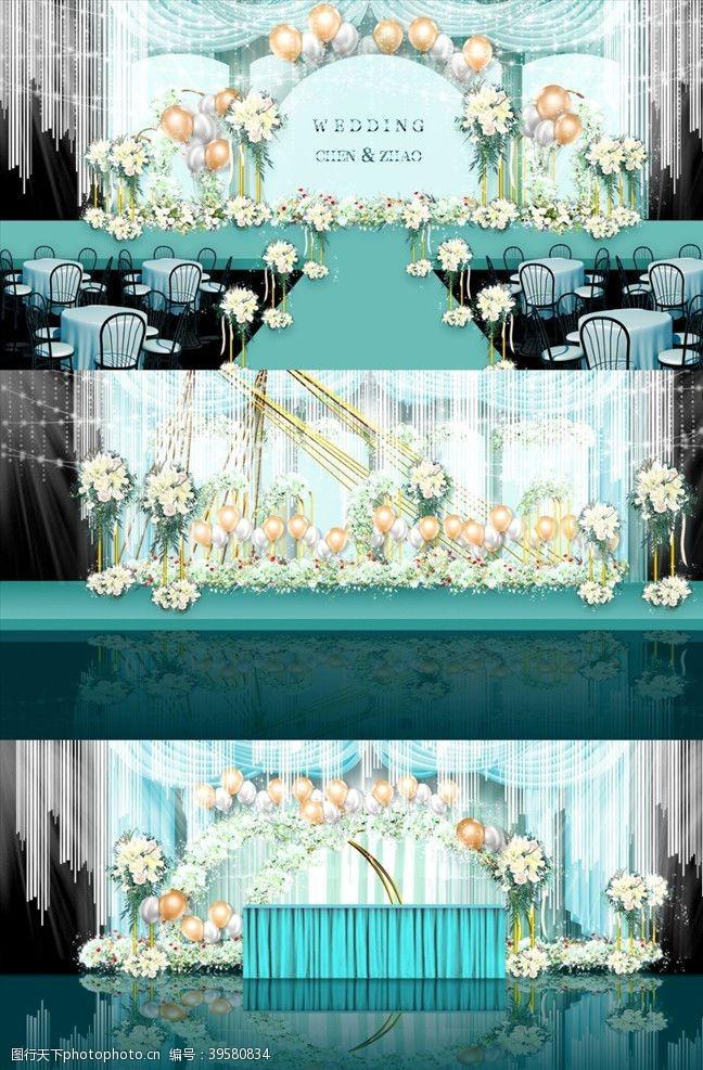 蒂芙尼蓝婚礼背景图片