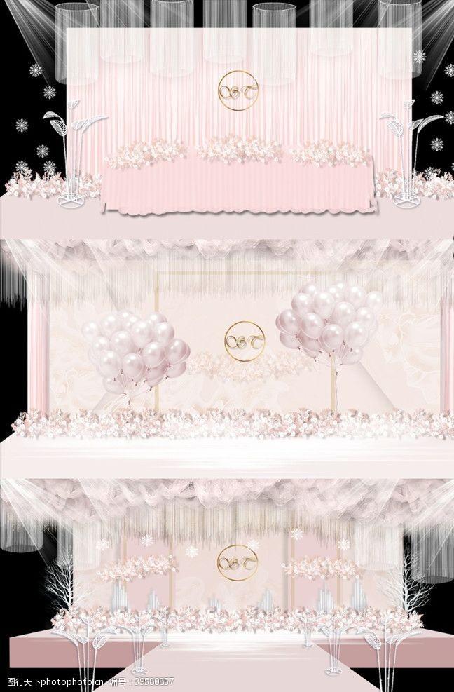 樱花主题粉色大气婚礼图片